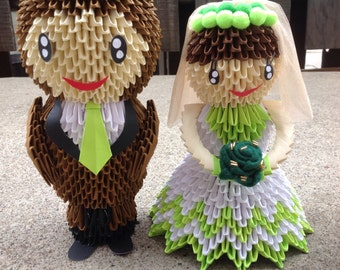 Bride Groom 2 - 3D Origami