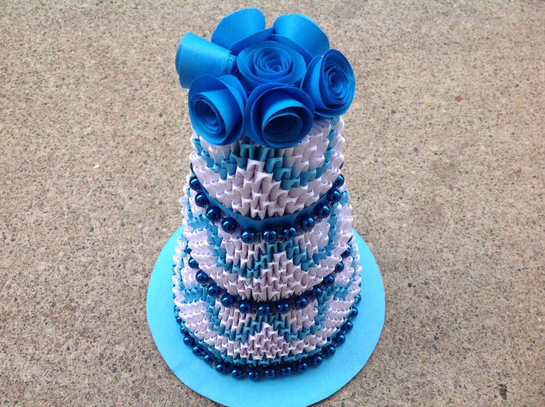 Cake Birthday Cake 3D Origami - photo#7
