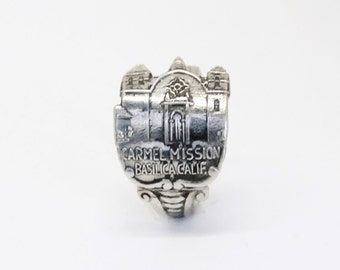 carmel mission  ring, spoon ring, catholic  ring, american ring , Mission San Carlos Borroméo  ring