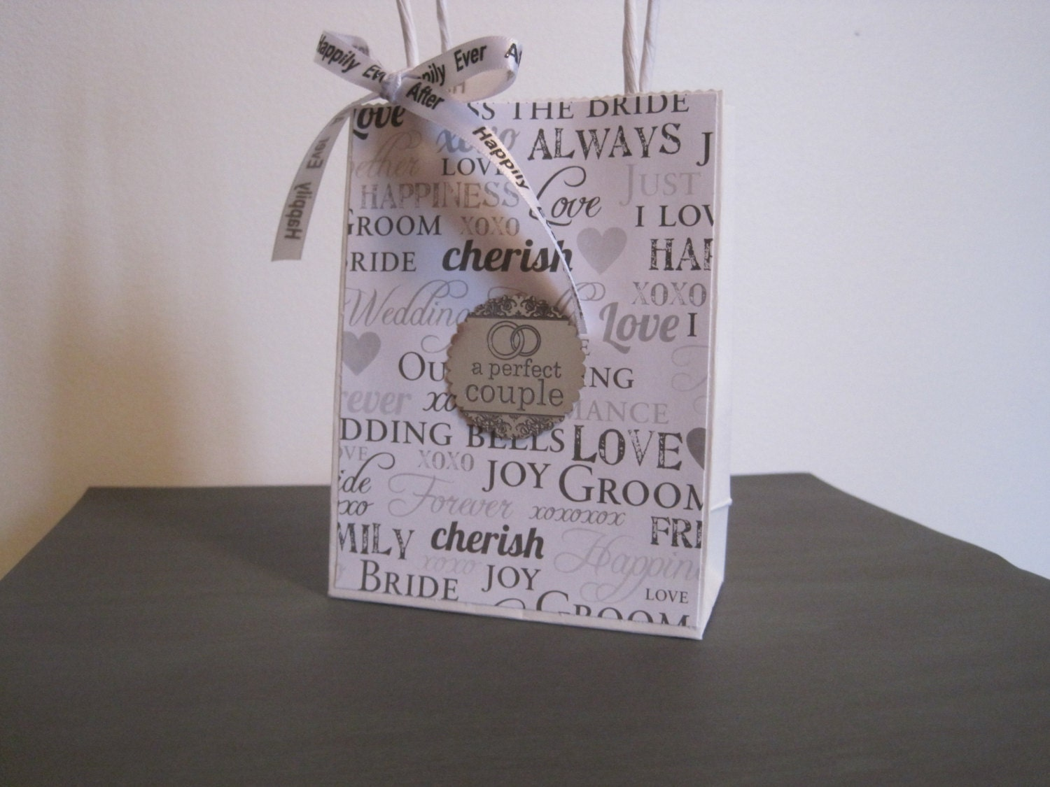 Small Wedding Gift Bag Wedding Shower Gift Bag by DLDesignerCrafts