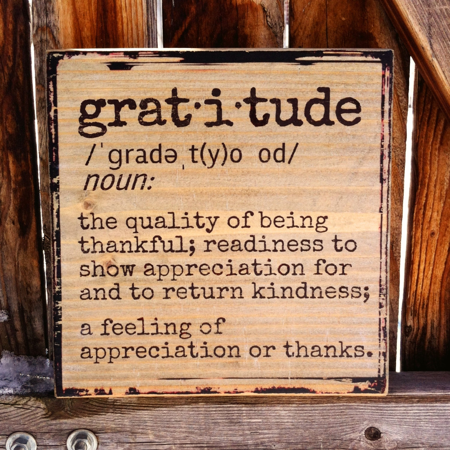 Meaning Of Wall Decor : Gratitude dictionary definition wooden shelf decor or wall