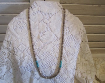 Native American hand rolled Heishi Necklace