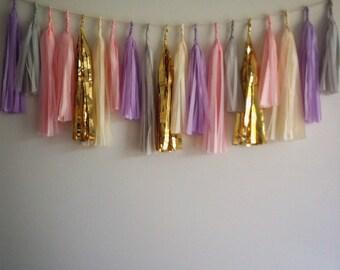 Lilac Dream Tassel Garland