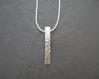 Sterling silver hammered pendant