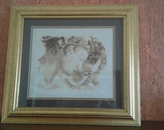 ON SALE Cross Stitch finished with Frame