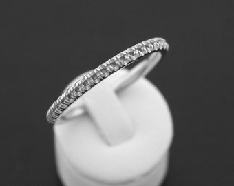 14 Karat White Gold Wedding Band Mountiing. Set your own diamonds and save! Made in the USA