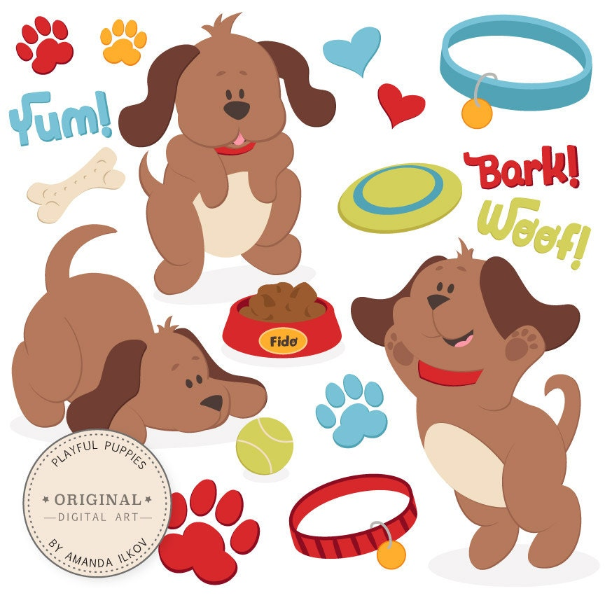 Clip Art Clip Art Puppy puppy clipart etsy professional large dog vector set clip art cute vectors p