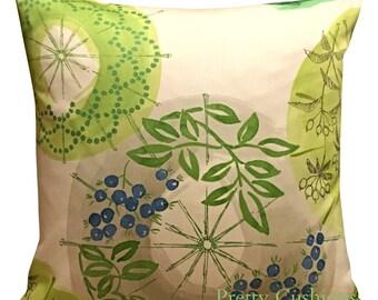 Villa Nova Kabuki Eden Green Cushion Cover