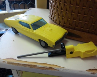 Vintage Funmate Spring Action Car w/ Launcher