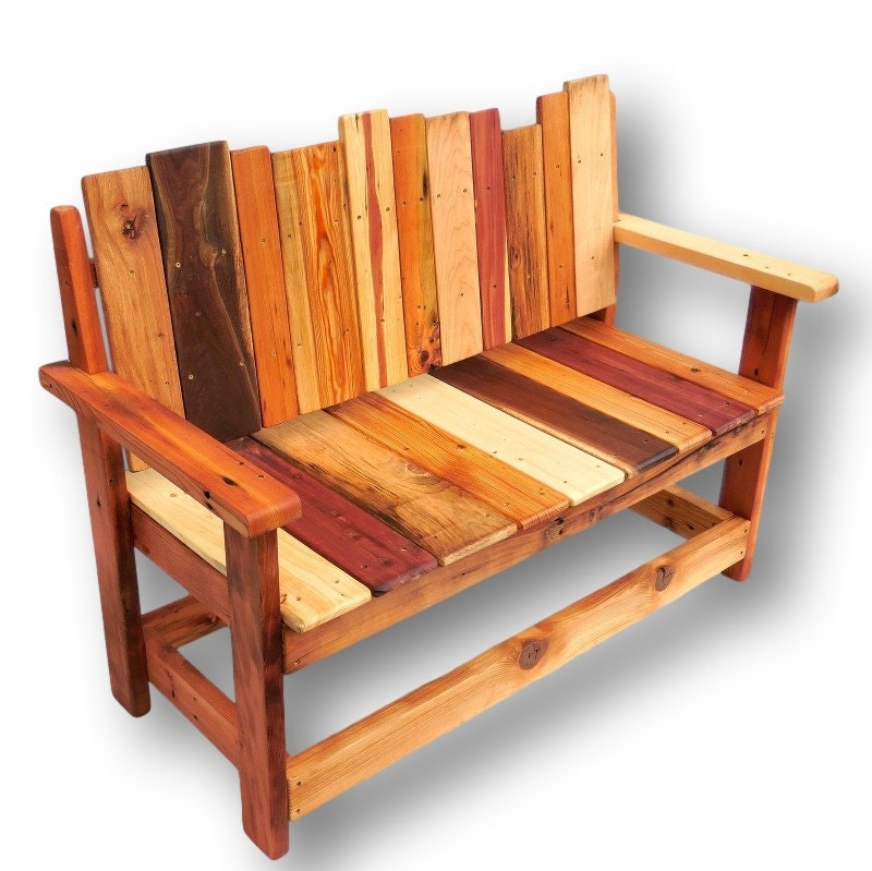 Reclaimed Wood Bench Rustic Bench Rustic Furniture Salvaged