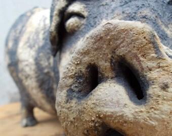 Ceramic pig sculpture