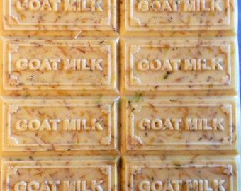 Goats milk soap with calendula flowers