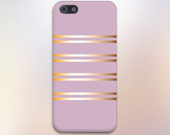 Gold Reflections Light Purple Striped Case,iPhone 7, iPhone 7 Plus, Tough iPhone Case, Galaxy s8, Samsung Galaxy Case, Note 5, CASE ESCAPE