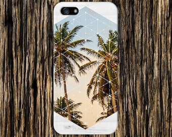 Summer Palm Trees Cali White Wood Print Case, iPhone 6 iPhone 6 Plus, Tough iPhone Case, Galaxy s8, Samsung Galaxy Case, Note 8, CASE ESCAPE