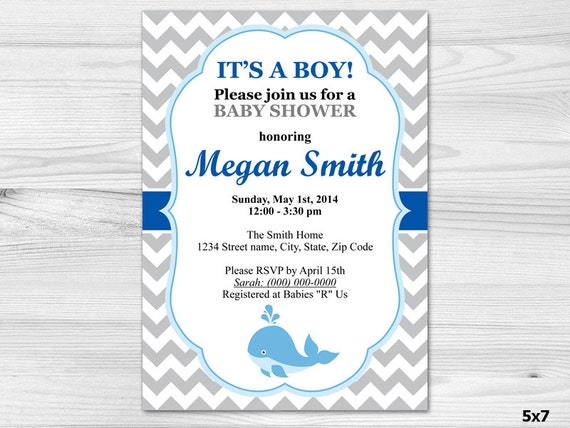 its a boy baby shower invitation diy printable custom invitation