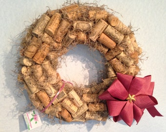 Large Natural Cork Wreath • Soft Pink Bow • Gold Starfish Charm • Moss Accents • Home Decor from Crafts by the Sea