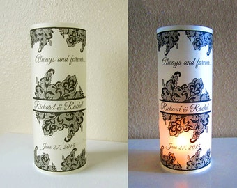 20 Personalized Damask Wedding Centerpiece Luminaries Table Decoration