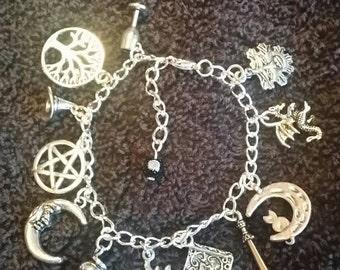 Witch/Wiccan/Pagan Charm Bracelet