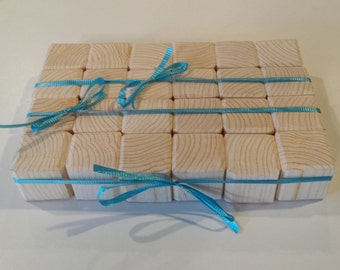 24 Wood Blocks Baby Blocks Wood Toy Unfinished Blocks Baby Shower Baby Gift Block Letters Toy Blocks Childrens Gift Toddler Building Blocks