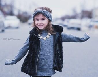 The Mini Urban Turban - Ear Warmer, Winter Headband for Kids Toddlers Children