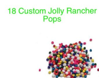 Custom Jolly Rancher Lollipops
