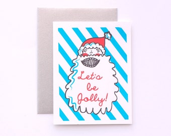 SALE! Let's Be Jolly! Handmade Greeting Card