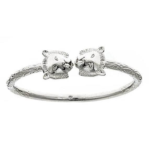 Lion 925 Sterling Silver West Indian Bangle One Bangle