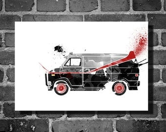 A-Team Van vehicle movie poster minimalist poster star wars art wall art home decor