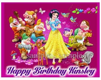 Snow White Edible Image Frosting Sheet Cake Topper