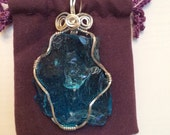 Luminescent Blue Andara Crystal