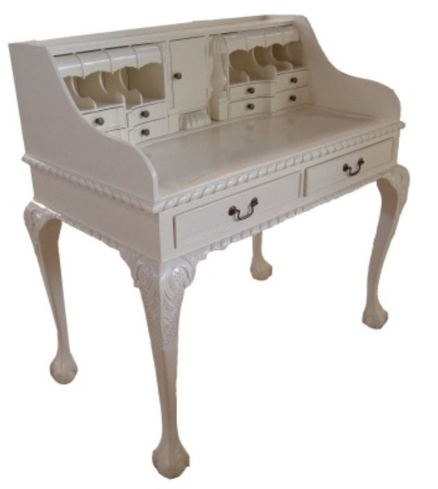 French Country Desk White desk Executive Desk Solid Wood