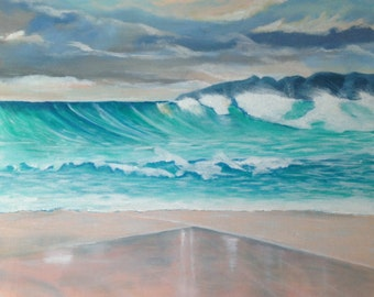 Beach Painting, Original, Acrylic on Canvas, Australian Artist, Ready to Hang, Coastal