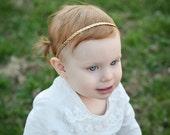 Gold Braid Halo Crown | Metallic Gold Headband | Baby Girl Crown