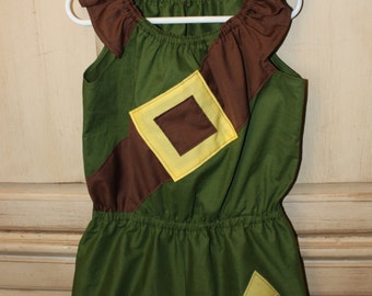 Girls Legend of Zelda Link Romper