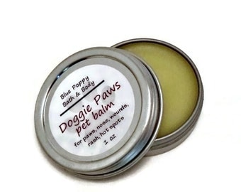 Pet Balm, Salve for Paws, Hot Spots, Wounds, Rash, Dog Paw Pad Balm, Natural Balm for Pets, Doggie Paws Balm, Pet Health, Pet Grooming