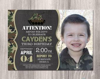 Camo Invitation, Camo Birthday Invitation, Camouflage Invitation, Army Invitation, Camo Birthday, Printable Camo Invitation, Army Party