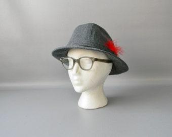 Vintage Gray Fedora Hat