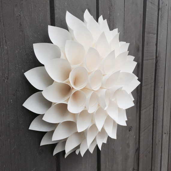 Items Similar To Wall Flower Paper Dahlia Wall Art