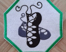 Irish Dancing Hard Shoes With White Strap