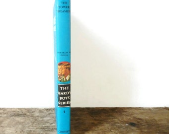 Vintage Hardy Boys Mystery Stories - The Tower Treasure - by Franklin W. Dixon - Number 1 - amazing condition - teen, tween, young adult