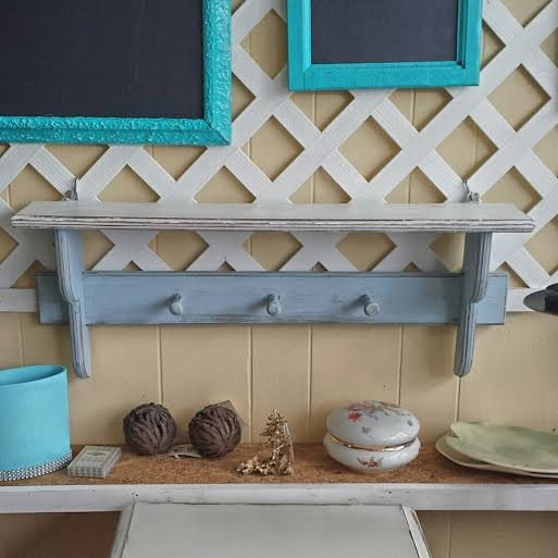 Upcycled shabby chic shelf storage distressed cottage chic - Shabby chic decor for sale ...