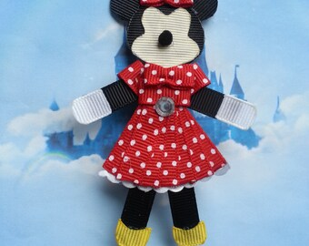 Minnie Mouse Inspired Ribbon Sculpture Hair Clip-Minnie Mouse Headband