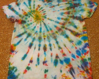 Women's Size Medium Tie Dye T-Shirt,short sleeves, Hanes ComfortSoft, 100% cotton
