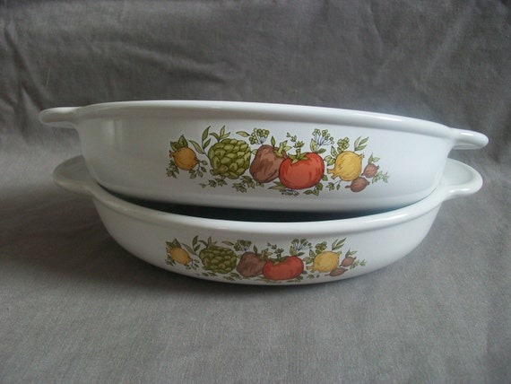 Corning Ware Spice O Life Baking Dish Set Oval Serving