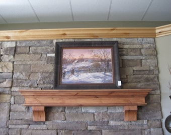 Fireplace Mantel Amp Corbels Knotty Alder Distressed By