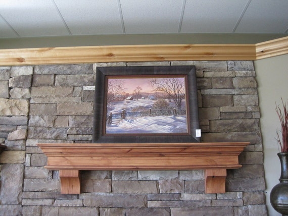 knotty alder summit fireplace mantel shelf corbels by