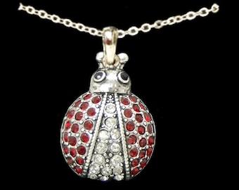 Pave Ladybug Necklace