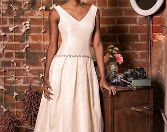 Zoe- Dropped Waist, Hi Lo Hem Wedding Gown