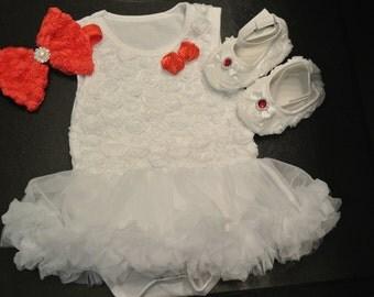 Christmas Baby Outfit-Girls Christmas Dress- Baby Christmas Tutu- Baby Dress- Christmas Dress