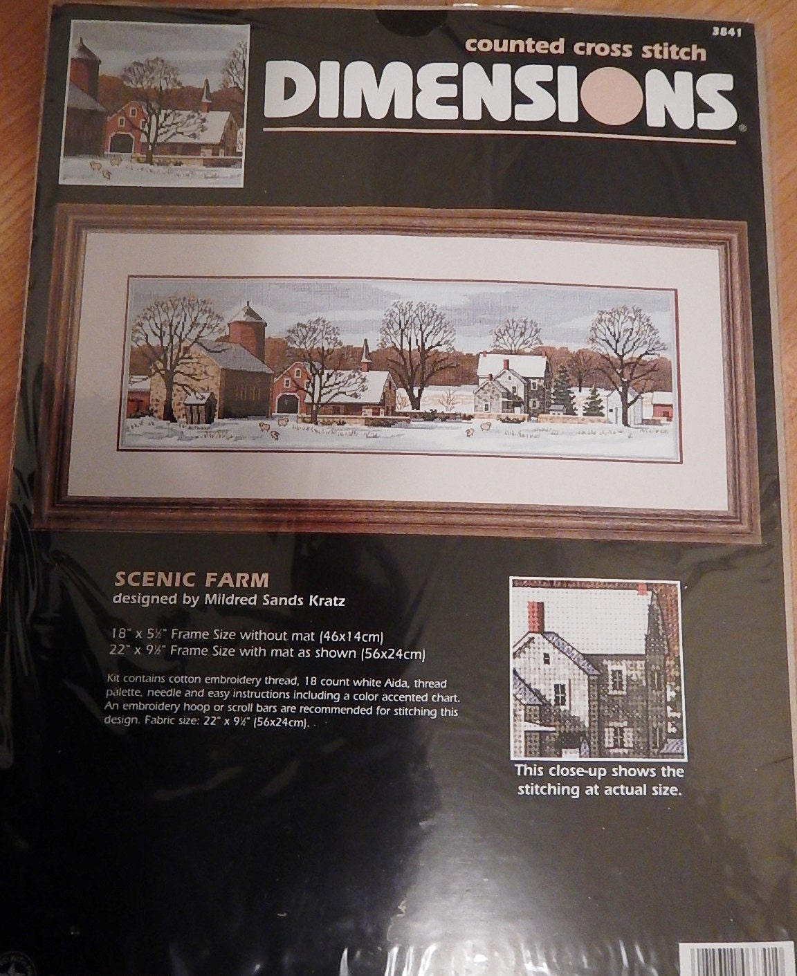 dimensions scenic farm cross stitch kit 1997 by nirvanacraftsupply. Black Bedroom Furniture Sets. Home Design Ideas